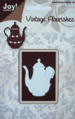 Joy Crafts Cutting & Embossing - Vintage Flourishes -Teapot Die - 6003/0020